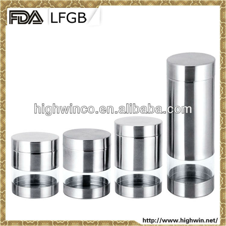 FDA LFGB Satin Finished 18/8 Single Wall Inox Containers