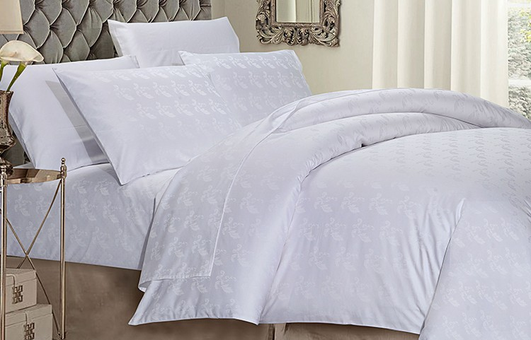 100% cotton hotel bedding set embroidered big bed set duvet cover pillow case
