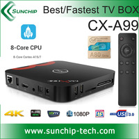 SUNCHIP best seller kitkat Android 4.4 ARM Cortex A15/A7 WIFI 1.8ghz 16GB / 32GB (EMMC) WIFI Allwinner A80 tv box Octa core