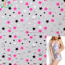 high stretch nylon lycra floral print underwear / lingerie fabric