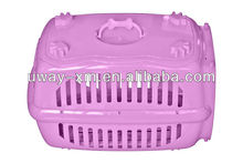 2013 newest pink PP travelling pet carrier with handle and door