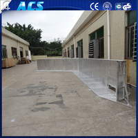 Aluminum Crowd Control Barricade Portable Crash Crowd Barrier