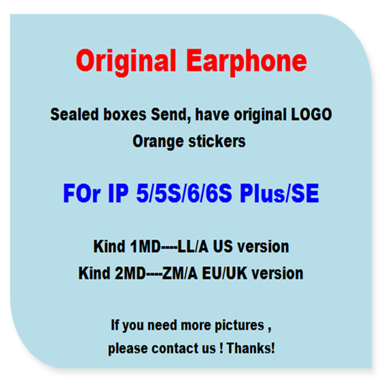 <strong>DHL</strong> 100pcs with retail packing Genuine Original Quality headset in-ear headphones With Remote Mic for iphone 4s 5 5s 6 6S plus