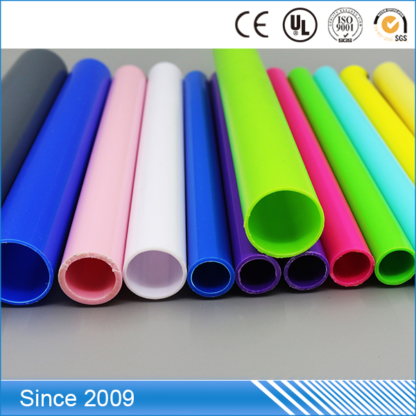 Rigid Round PVC Material Thin Walled Plastic HDPE Pipe