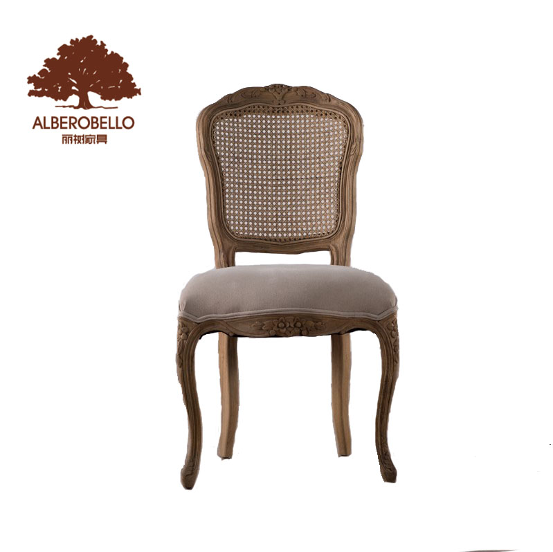 Home Furniture Dining Room Chair Modern Design Wooden Fabric Dining Chair