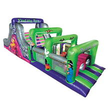 inflatable combo obstacle course game,inflatable slide W5012a