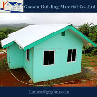 China supplier low cost prefab house movable house prefabricated steel frame house