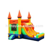 2015 orange double lanes water slides inflatable