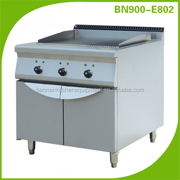 Commercial hotel and restaurant kitchen equipment gas griddle