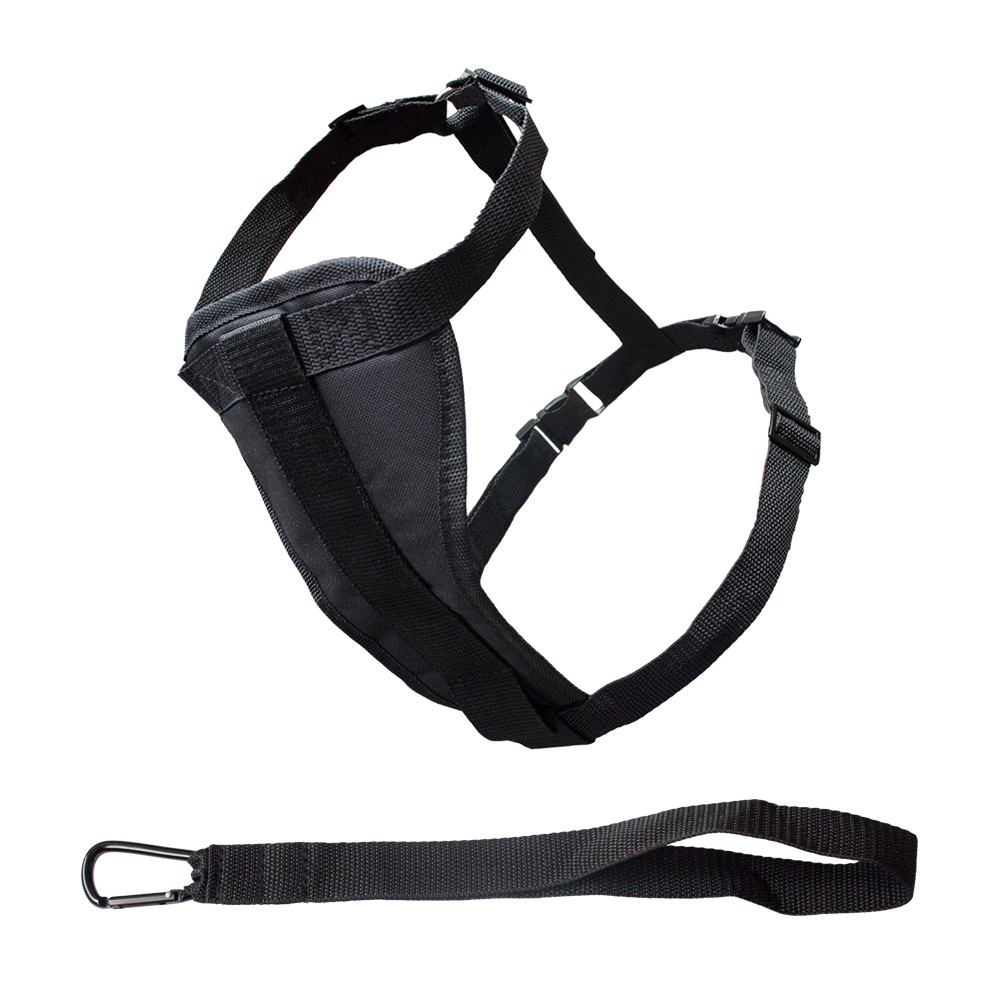 Polyester Black Pet Dog Harness Dog Accessories In China Wholesale Factory