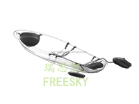transparent cheap kayak for Sports and Exercises with two person seat for sale