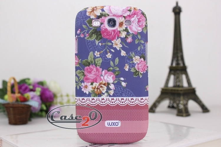 Samsung Galaxy S3 iuxo Flower Design Hard Plastic Case