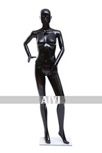 Black Female Plastic Wooden Full Size Mannequin Doll