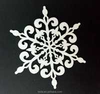 Hot sale glitter paper snowflake christmas ornaments