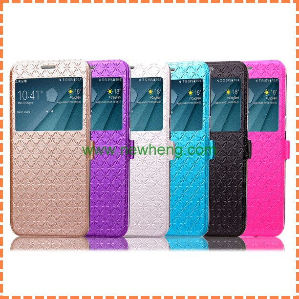 Lozenge Pattern Leather+TPU back cover Case for samsung note 5