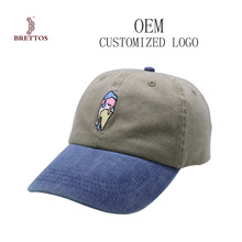 Two Color High Quality Dad Hat Embroidery Washed Baseball Cap