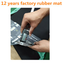 Conductive rubber mate rubber mats with holes