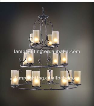 Decorative Classical glass candle project chandelier pendant lamp