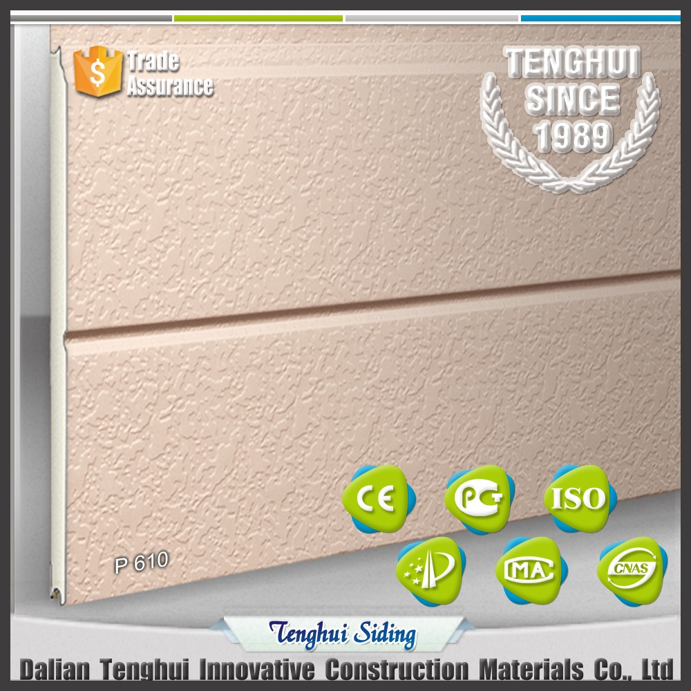Exterior wall warming decorative material polyurethane insulated board with spray <strong>grain</strong>.