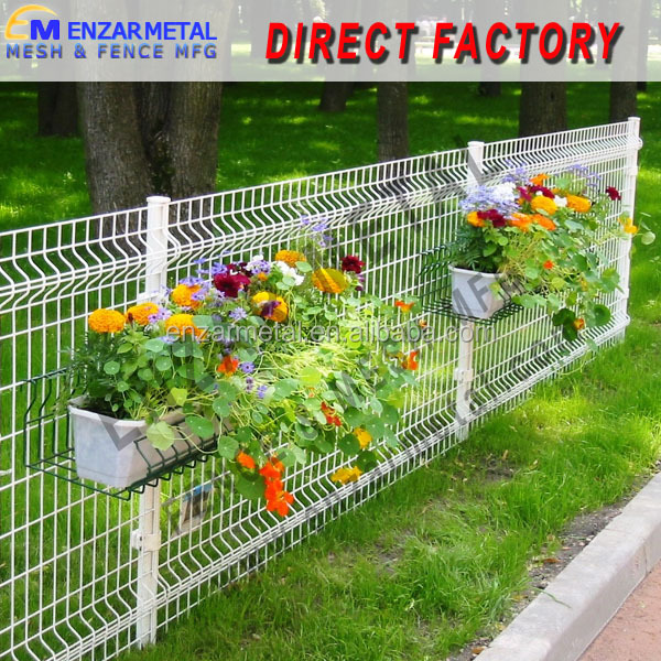 pvc coated welded wire mesh fence / price rigid mesh fence / powder coated fence steel panel /