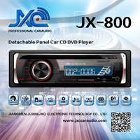 One Din Car DVD Player with Detachable Panel, AV Output, CD, DVD, USB, SD Card Playback (1DIN) JX-800