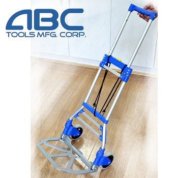 Two wheel shopping cart aluminum frame hand push cart