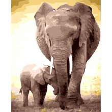 Diy 5d diamond painting elephant printing by number  diamond painting on canvas
