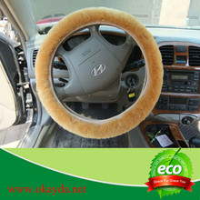 Unique genuine leather steering wheel cover