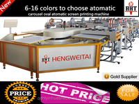 Cheap!! Textile/ Cloth/Garment/Fabric Multicolor Rotary Carousel Oval Silk Screen Printers Machine For Sale