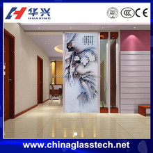 Beautiful Picture Decorative Tempered Glass Living Room Glass Partition