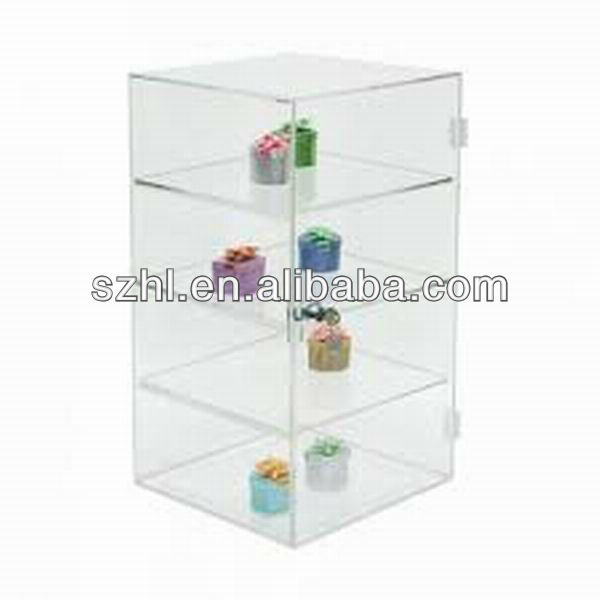 Clear acrylic jewelry case display with lock