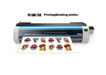 Eco-solvent China digital plotter print and cut plotter