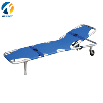 AC-FS003 medical low price aluminium alloy folding stretcher bed prices manufacturer