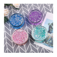 Simple portable quicksand bling style contact lenses boxes cute contact lens cases