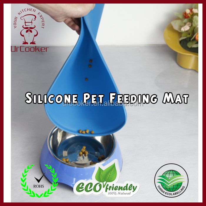 2017 New design Durable Food Grade Anti-slip Silicone Pet Feeding Mat Food mats with suction cup