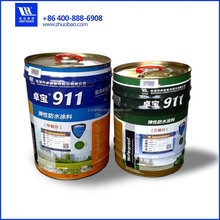 polyurethane waterproof paint materials for concrete roof