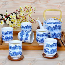 TG-405W231-W-2 chinese pottery tea set for wholesales brass copper tea set