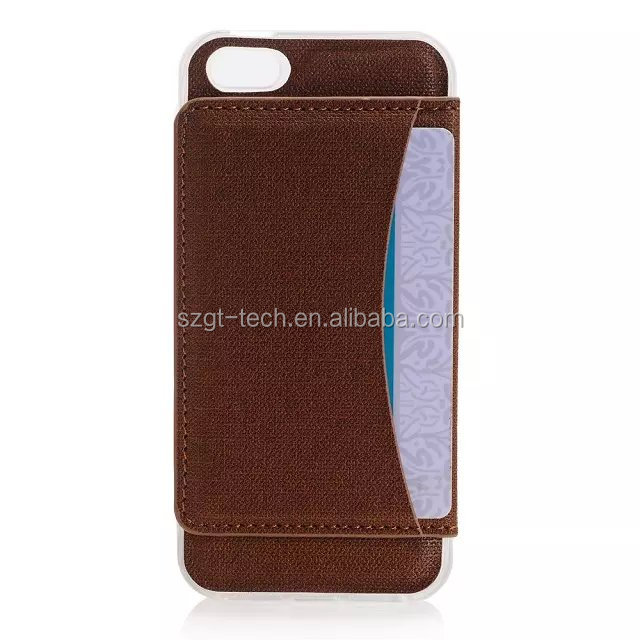 Retro leather wallet design flexible credit card slot book style mobile phone case for iPhone 6s/6