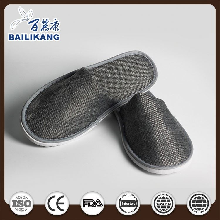 Coral Fleece Indoor Slippers for Man Fancy Slippers for Hotel Guest