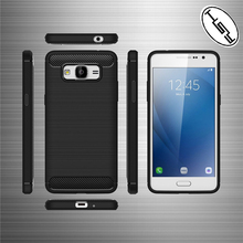 HUYSHE Factory Supply carbon fiber soft tpu cover for samsung j3 prime mobile phone case