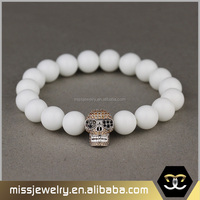 Miss Jewelry Latest Wholesale Nature Stone Trendy Skull Bead Bracelets