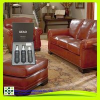 Leather seat kit for leather furniture cleaning, polishing and protecting