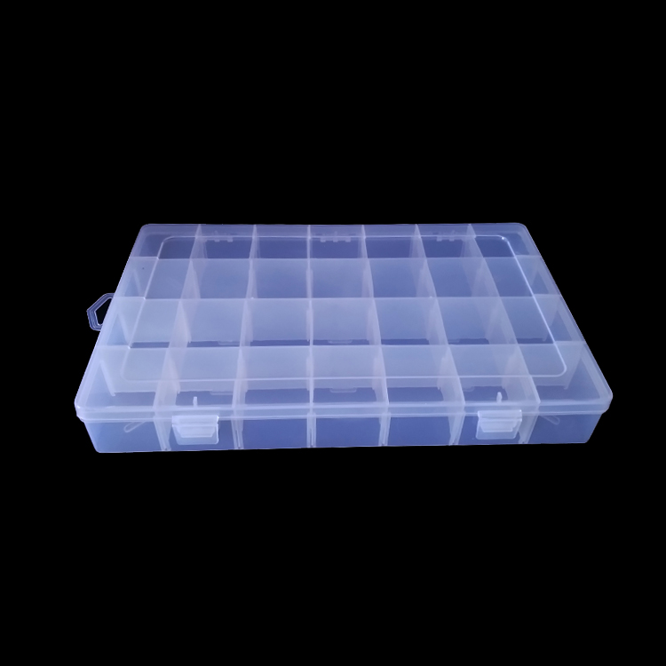 28 lattice detachable removable compartments transparent box <strong>plastic</strong> storage <strong>case</strong>