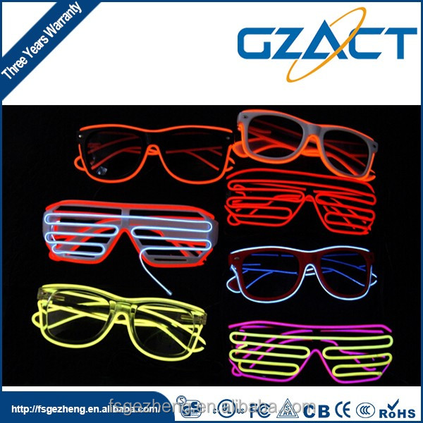 Party decorations shutter shades glow in the dark glass