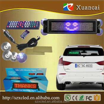 Cheap factory price Happy emotion electronic digital led sign for car