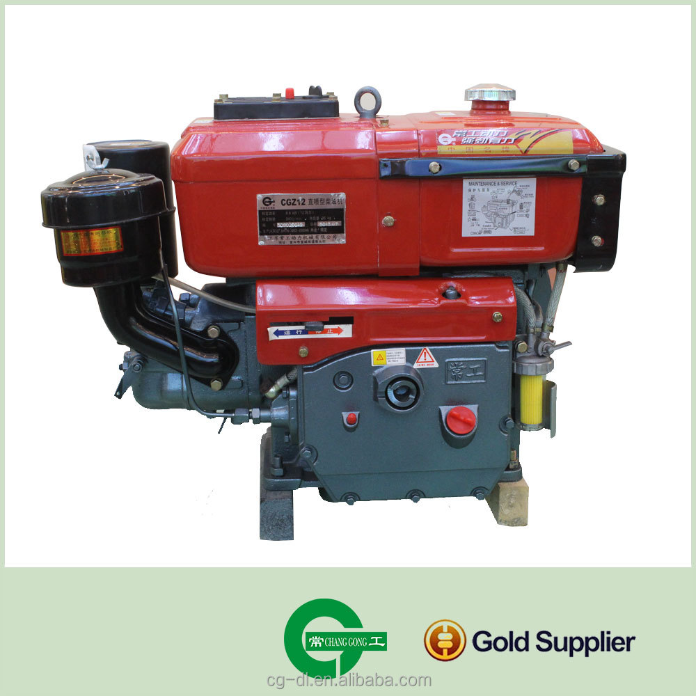Direct Injection water cooled Single Cylinder Diesel Engine CGZ12