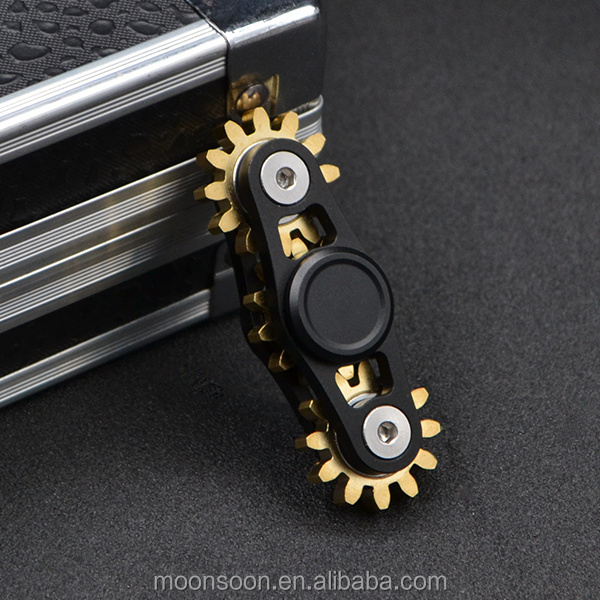 Moonsoon good packing two teeth linkage hand spinner EDC spinner