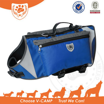 Wholesale & reflective Dog Backpack and outdoor harness