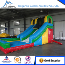 Good quality 7.5x3.9x4.5m bounce round inflatable water slide