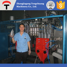 Plastic pesticide bottle blow molding machine